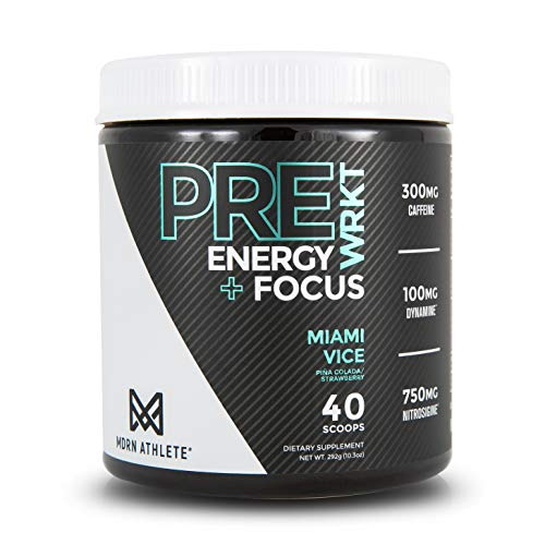 MDRN Athlete PreWRKTTM | Keto Friendly Pre-Workout | Enhanced Energy | Focus | Strength | Endurance | Incredible Pump & Blood Flow | Piña Colada/Strawberry (20 Servings)