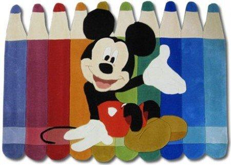 Tappeti Per Bambini Disney : Tappeto per bambini disney mickey mouse pastelli cm