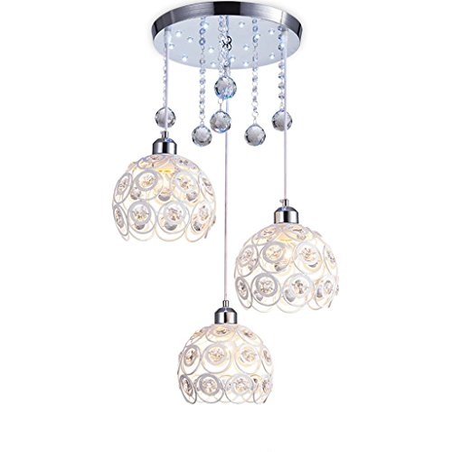 Light Three Elegance Pendant - Chandelier Ceiling Light Restaurant Chandelier Three Contemporary Modern Led Pendant Lamp Dining Room Dining Room Household Crystal Balcony Creative Personality Chandelier Lighting Ceiling Lighting