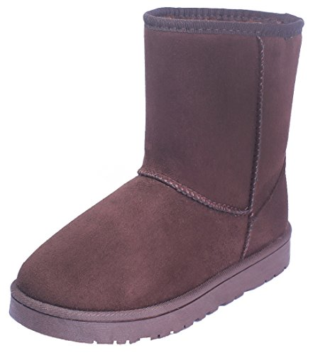Classic Clásicas Marrón Invierno Lined Tall Botas Shoes Nieve Botas AgeeMi Fur Mujer fpqA6OwI