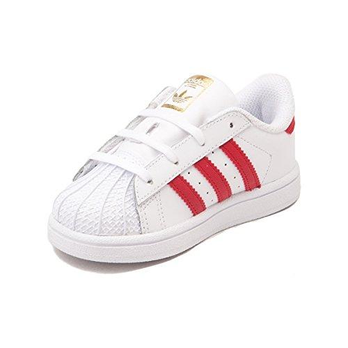 B72954 Neonati E / Bambino Superstar - Adidas Bianco / E Scarlet Comprare f452f1