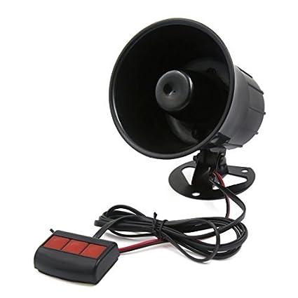 Amazon com: DealMux Universal Car Siren Security Horn 12V 3