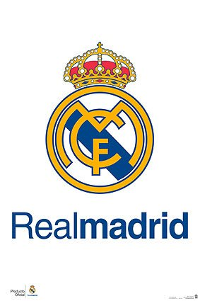 Real Madrid Poster - Official Team Crest / Logo