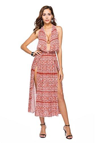 CLOVER Kleid Kleid Prinzessin Partei Weinlese A Nobles Frauen Retro Cocktail Kleid Halter Kleidet der Abend Schwingen Frauen LUCKY Kleid dqpdPU