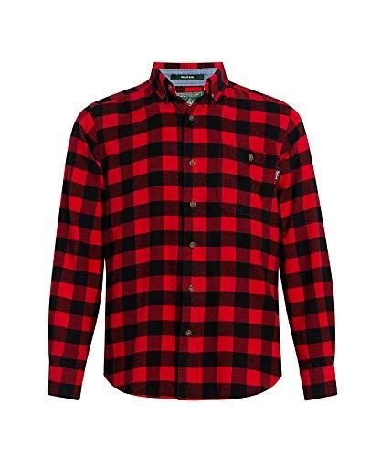 Woolrich Flannel Shirt - Woolrich Men's Trout Run Flannel Shirt Modern Fit, Old Red Buffalo, Large