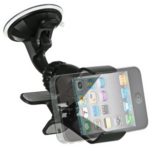 Importer520 Clipper Car Mount Universal Vehicle Swivel Holder For Samsung Galaxy Note 3 2 Galaxy S5 ACTIVE S4 ACTIVE S3 MINI Apple iPhone 4 5 5S 5C 6 6 Plus 4.7 5.5;LG Optimus G3 G2,G Flex,G Pro 2 HTC One M8/ACE M7 M4,Mini 2