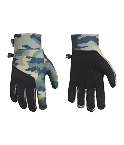 The North Face Etip Glove, Burnt Olive Green Woods Camo Print, Small