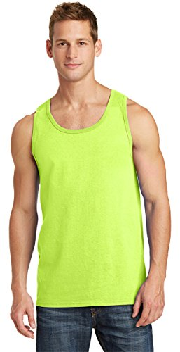 Port & Company PC54TT 100% Cotton Tank Top - Neon Yellow - -