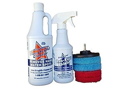 Agua Spot Remover Agua quitamanchas y Kit de sellador Plus (almohadillas, limpia azulejos y