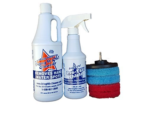 Water Spot Remover Water Stain Remover and Sealant Kit Plus Drill Pads, Clean Tile and Grout (Pet Fountain Water Bottle Attachment)