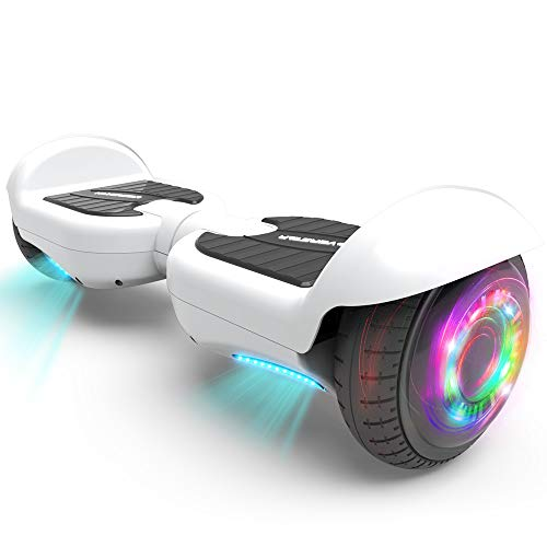 """HOVERSTAR All-New HS2.0 Hoverboard 6.5"""" Two-Wheel Self Balancing Flash Wheel Electric Scooter (White)"""