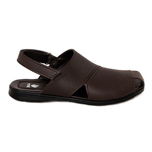 nae Panos Brown - sandales véganes faits avec la microfibre écologique
