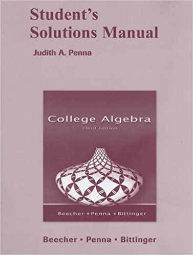 College algebra students solutions manual judith a beecher college algebra students solutions manual 3rd edition fandeluxe Images