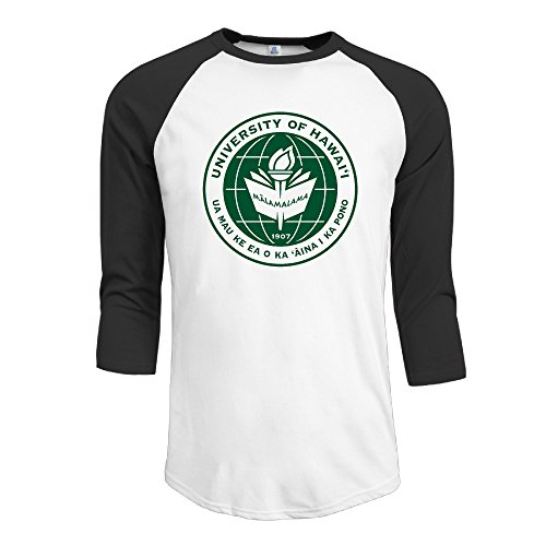 Yesher Men's University Of Hawaii 3/4 Sleeve Raglan Tee T Shirt - - Kors Michael Ireland