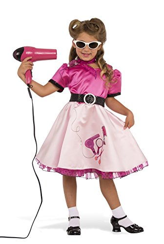 Rubie's Child's 50's Beauty School Girl Costume, Medium,