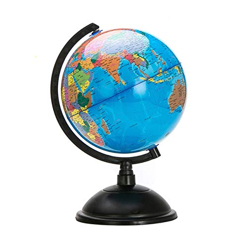 Smartlove1P 20cm Blue Ocean World Globe Map with Swivel Stand Geography Educational ()
