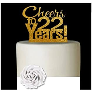 CakeSupplyShop ItemAE125 Happy 22nd Birthday Agemilestone Elegant