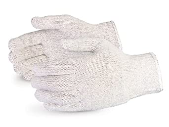 Superior SQG SureKnit Cotton/Polyester Economy String Knit Glove, Work, 7 Gauge Thickness, X-Large, Gray (Pack of 1 Dozen)