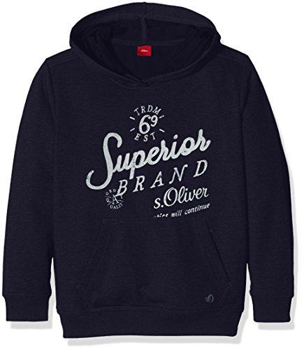 s.Oliver Junior Jungen Sweatshirt 75.899.41.0603, Blau (Dark Blue 5958), 152 (Herstellergröße: M)