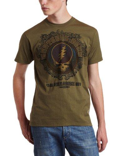 Liquid Blue Men's Grateful Dead Fillmore T-Shirt, Green, - Onesie Sleeve Grateful Dead Short
