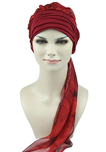 Feminine Headwear For Chemo Alopecia Ladies Turbantes Scarves Caps Scalp Headcover Sleep - Headwear Cool