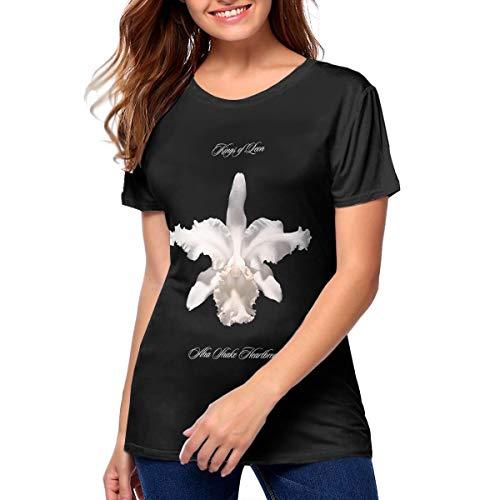 Women's Kings of Leon Aha Shake Heartbreak Music Band T Shirt Hip Pop Cotton T-Shirt M Gift Black