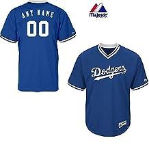 New V-Neck Los Angeles Dodgers CUSTOM (Name/# on Back) or Blank Back MLB On Field Cool-base Pro Length Full Athletic Cut Uniform Jersey