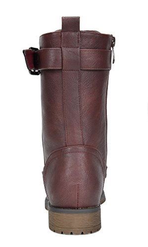 Boots Women's Mission Pairs Dream Combat Calf Burgundy Mid Riding UpgcHw