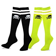 TeeHee Novelty Cotton Knee High Fun Socks 2-Pack for Junior and Women