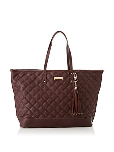 BCBG Paris Women's Quilted Faux-Leather Tote Handbag, Red - Large ()