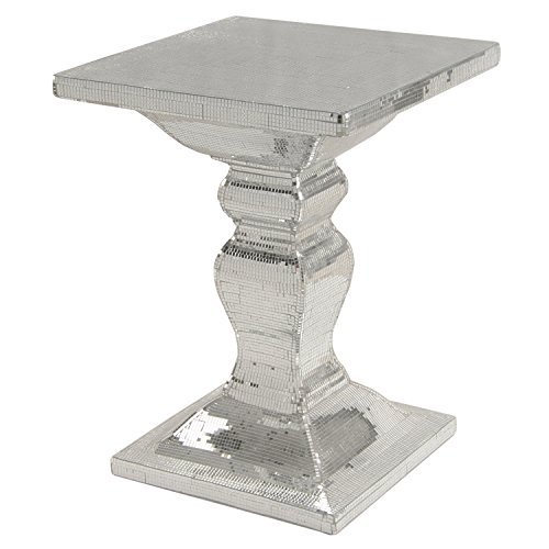 New Pacific Direct 4000002 Zapata Mirrored Square End Table (Dining Room Rattan End Table)