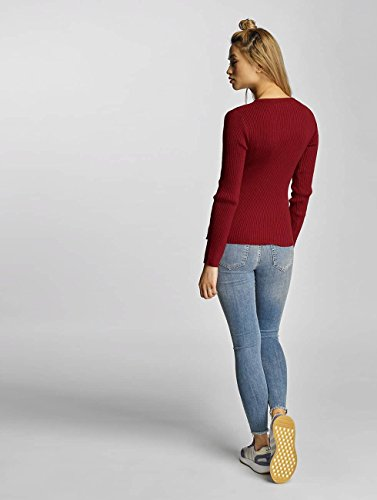 Pieces Femme LS Pcvesla Rouge Knit Pull 1Yg0wRq