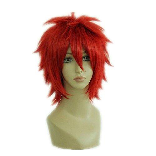 Prettymart Cosplay Wig Uta No Prince-Sama Otoya Ittoki Red 35cm Hair