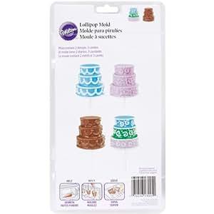 Brand New Lollipop Mold-3D Cake Pop 3 Cavity (2 Designs) Brand New