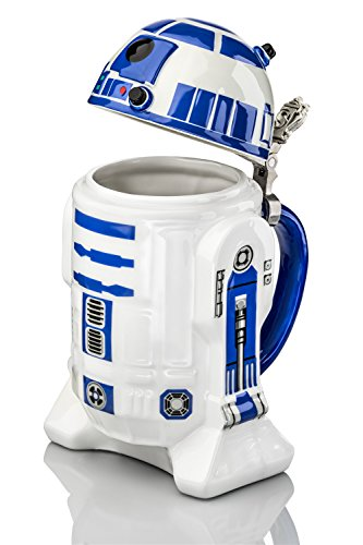 Star-Wars-R2-D2-Stein-Collectible-32oz-Ceramic-Mug-with-Metal-Hinge