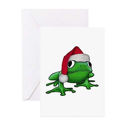 Price comparison product image CafePress - Christmas Frog - Greeting Card, Note Card, Birthday Card, Blank Inside Glossy