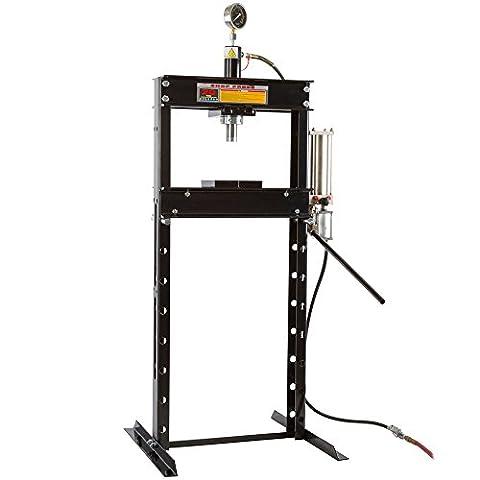 20 Ton Air-Operated Mechanic Repair Shop Press with Pressure Gauge - 20 Ton Air