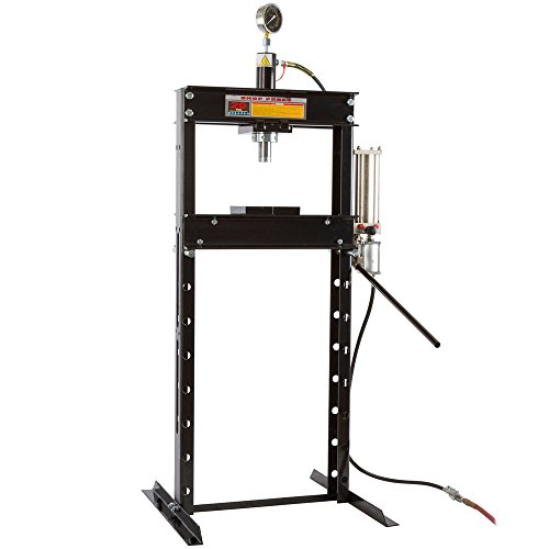20 Ton Shop Press (20 Ton Air-Operated Mechanic Repair Shop Press with Pressure Gauge)