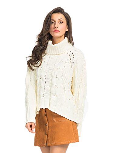 PERSUN Women Chunky Sleeve Sweater