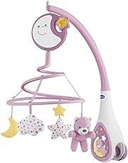 Chicco Next2Dreams Babybed, mobiel met licht en muziek, 3-in-1, mobiel compatibel met Next2Me babybed, met geluidseffecten, nachtlichtprojector en klassieke muziek, 0+ maanden
