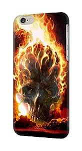 E0863 Hell Fire Skull Funda Carcasa Case para IPHONE 6S PLUS