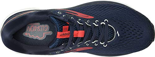 Brooks Men's Ghost 11 Navy/Red/White 7 D US by Brooks (Image #1)
