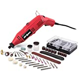 Hi-Spec Heavy Duty Rotary Tool Kit with Variable Speed & 120pc Universal Accessory Set - Electric Rotary Drill, Sander, Grinder, Cutting & Polishing Tool - DREMEL & WEN Accessories Compatible (1.0A)