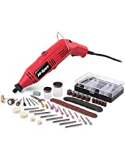Corded Multi Purpose Rotary Power Tool, Hi-Spec DT30304, 135W 8,000-30,000rpm Cutting Crafting Sander Grinder Engraver with 120 Piece Consumable Bits Accessories Kit DREMEL Bits Compatible
