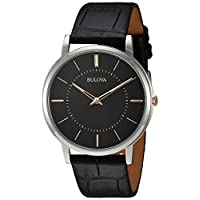 Deals on Bulova Men's Quartz Stainless Steel and Leather Casual Watch