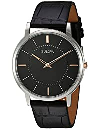 Bulova Mens 98A167 Dress Grey Dial Watch