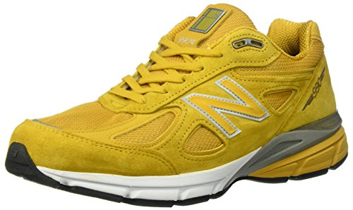 New Balance Men M990NV4 Running Shoe Quake/Mustard