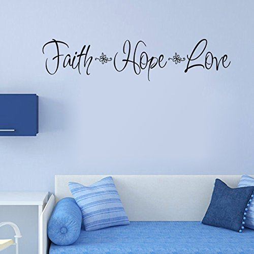 ghjft Vinyl Removable Wall Stickers Mural Decal Faith Hope Love Classical For Kids Room Home Decoration by ghjft