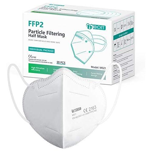 chollos oferta descuentos barato IDOIT Mascarillas ffp2 filtro multicapa Certificado CE y EN 149 2001 A1 2009 mascarillas ffp2 homologadas 20 piezas