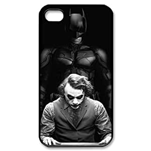 wugdiy Customized Hard Back Case Cover for iPhone 4,4S with Unique Design The Dark Knight BY shenglong